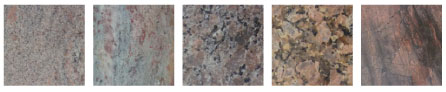 Composite of Sample Granite Choices