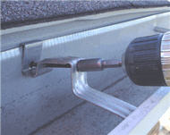Placing Gutter Hanger