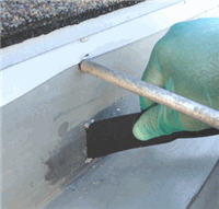 2nd Repair of Gutter Hole - Over Settling