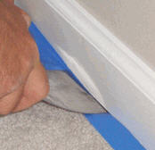 Tucking Baseboard/Carpet Masking