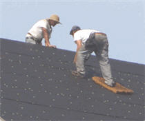 Re-Roofing A Steep Ridge